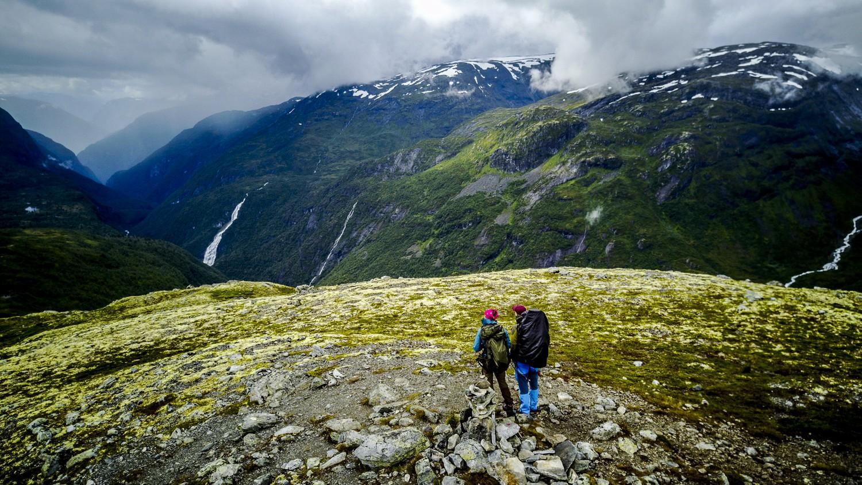 Wandelen in Noorwegen - bewolkt weer